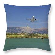 Corfu Take Off  Throw Pillow
