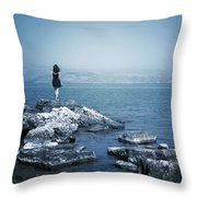 Corfu - Greece Throw Pillow by Cambion Art