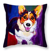 Corgi - Taste The Rainbow Throw Pillow