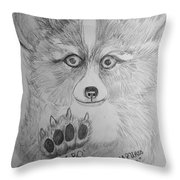 Corgi Pup Throw Pillow