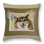 Corgi Wings Of An Angel Throw Pillow