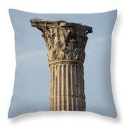 Corinthian Columns At The Roman Forum Throw Pillow