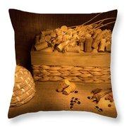 Cork And Basket 1 Throw Pillow
