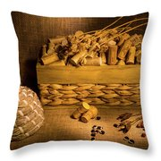 Cork And Basket 3 Throw Pillow