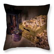 Cork And Basket And Lamp Throw Pillow