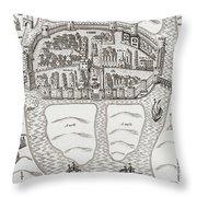 Cork, County Cork, Ireland In 1633 Throw Pillow