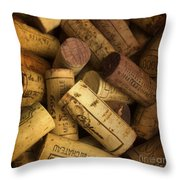 Corks Throw Pillow