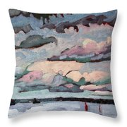 Cormorant Cumulus Throw Pillow