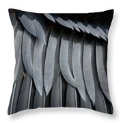 Cormorant Wing Feathers Abstract Throw Pillow