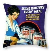 Corn 1918 Throw Pillow