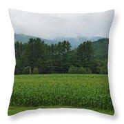 Corn Among The Mountains Throw Pillow