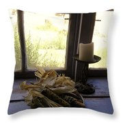 Corn And Candle Throw Pillow