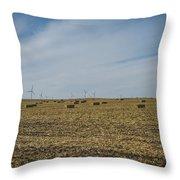 Corn Bales Throw Pillow