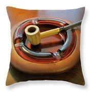 Corn Cob Pipe Throw Pillow