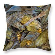 Corn Crops Throw Pillow