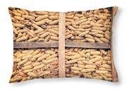 Corn For Winter Throw Pillow