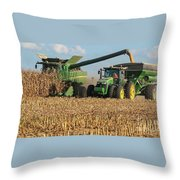 Corn Harvest Throw Pillow