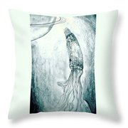 Corn In Space Throw Pillow