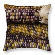Corn Kernals Throw Pillow