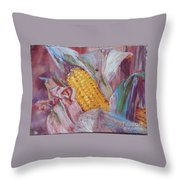 Corn Maize Throw Pillow