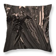 Corn Portrait Throw Pillow
