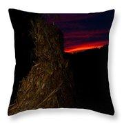 Corn Shock At Twilight Throw Pillow