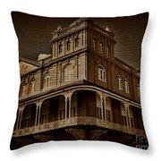Corner Building Throw Pillow
