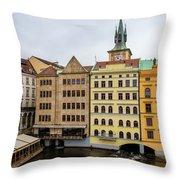 Corner Buildings In Prague Throw Pillow