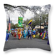 Corner Club 4 - Mardi Gras New Orleans Throw Pillow
