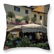 Corner Gelateria Throw Pillow