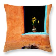 Corner In Santa Fe Nm Throw Pillow