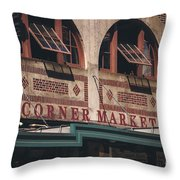Corner Market Pikes Place Market Throw Pillow