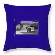 Corner Of Meyer And Convent Barrio Burton Frasher Photo Tucson Arizona 1938 Color Added 2016 Throw Pillow
