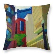 Corner Of Oliver Street, Boston Throw Pillow