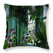Corner Office, Key West, Fl Throw Pillow