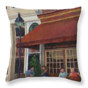 Corner Restaurant Throw Pillow