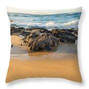 Corner Rock Throw Pillow