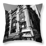 Corner Store In The City Throw Pillow