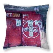 Corner Store Throw Pillow