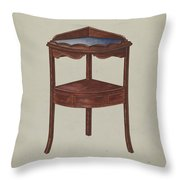 Corner Wash-stand Throw Pillow