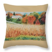 Cornfield In Autumn Throw Pillow