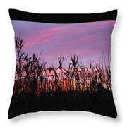 Cornfield Sunset Throw Pillow