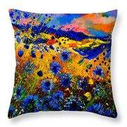 Cornflowers 746 Throw Pillow