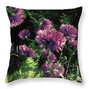 Cornflowers Autumngraphy - Photopainting Light Throw Pillow