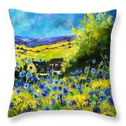 Cornflowers In Ver Throw Pillow