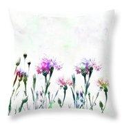 Cornflowers Watercolor  Throw Pillow