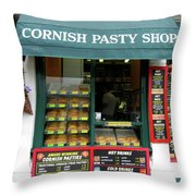 Cornish Pasty Shop Throw Pillow
