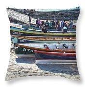Cornish Pilot Gigs Throw Pillow