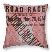 Corona Road Race 1914 Throw Pillow
