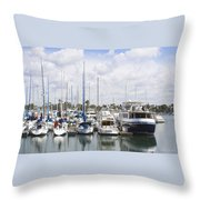 Coronado Boats II Throw Pillow